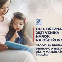 Aktuální informace pro rodiče. Od 1. března vzniká nárok na ošetřovné