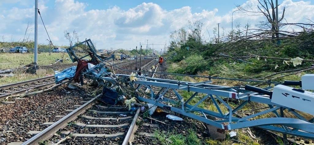 Doprava na jižní Moravě po ničivých bouřkách