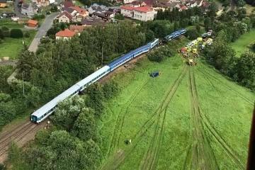 Vlaková nehoda u Milavče na Domažlicku